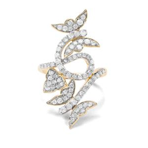 'The Mariposa Butterfly' 1ct Diamond 9K Gold Tomas Rae Ring
