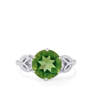 Fern Green Quartz Ring in Sterling Silver 3.28cts