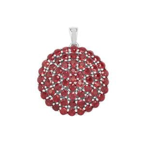 Malagasy Ruby Pendant in Sterling Silver 10.25cts (F)