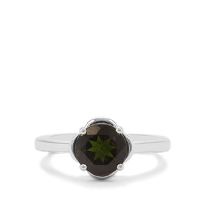 Chrome Diopside Ring in Sterling Silver 2cts