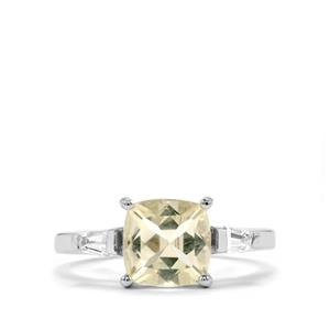Serenite Ring with White Topaz in Sterling Silver 2.16cts
