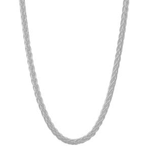 """24"""" Sterling Silver Dettaglio Mini Spiga Slider Chain 7.72g"""