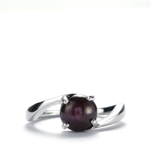 Madagascan Star Ruby Ring in Sterling Silver 3.08cts (F)