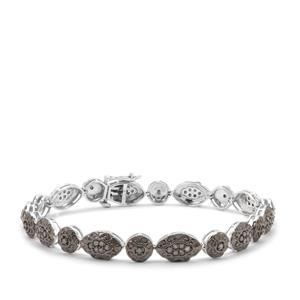 Grey Diamond Bracelet in Sterling Silver 1cts