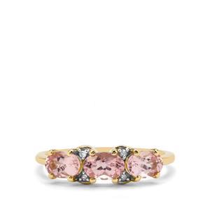 Cherry Blossom™ Morganite™ & Diamond 9K Gold Ring ATGW 1.28cts