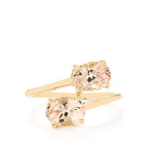 2.43ct Rose Danburite 9K Gold Ring