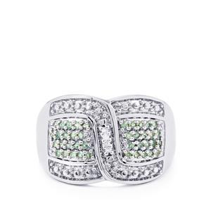 Orissa Alexandrite & Diamond Sterling Silver Ring ATGW 0.27cts