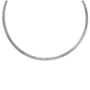 """18"""" Omega Necklace in Sterling Silver 12.87g"""
