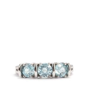 Ratanakiri Blue Zircon Ring in Sterling Silver 2.28cts
