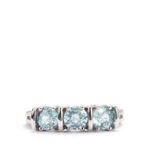 2.28ct Ratanakiri Blue Zircon Sterling Silver Ring