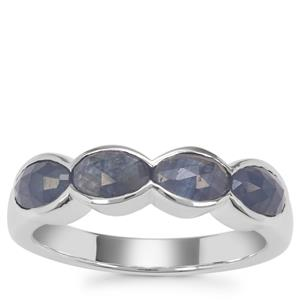 Rose Cut Bharat Sapphire Ring in Sterling Silver 2.36cts