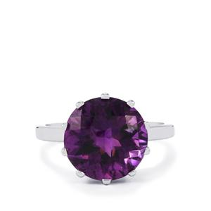 Zambian Amethyst Ring in Sterling Silver 5.50cts