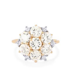 4.49ct Singida Tanzanian Zircon & White Zircon 10K Gold Ring