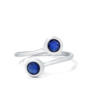 1.40ct Blue Sapphire Sterling Silver Ring (F)