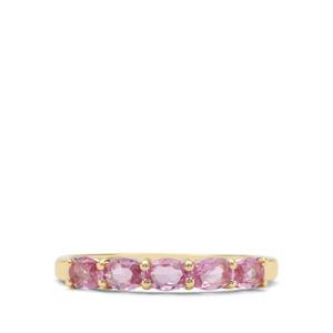 0.74ct Sakaraha Pink Sapphire 9K Gold Ring