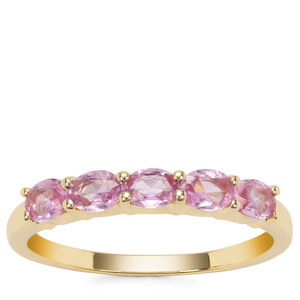 Sakaraha Pink Sapphire Ring in 9K Gold 0.74ct