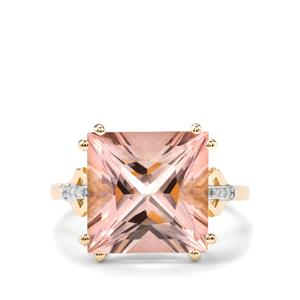 Galileia Topaz Ring with Diamond in 10K Gold 9.71cts