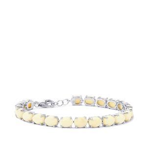 Coober Pedy Opal Bracelet in Sterling Silver 14.57cts