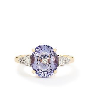 Lehrer TorusRing Tanzanite & Diamond 18k Gold Ring MTGW 3.06cts