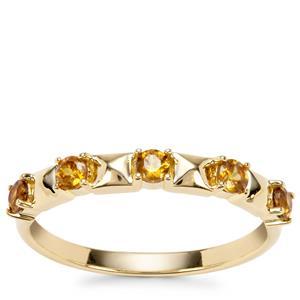 Morafeno Sphene Ring in 9K Gold 0.39ct