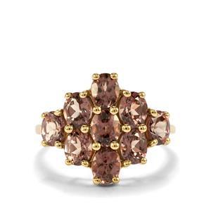3.61ct Tsivory Colour Change Garnet 10K Gold Ring
