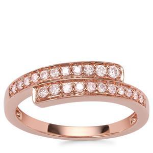 Pink Diamond Ring in 18k Rose Gold 0.27ct