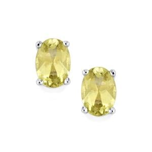 Yellow Apatite Earrings in Sterling Silver 1.57cts