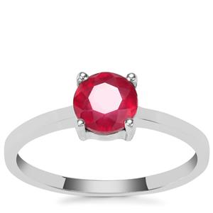 Ruby Ring in Sterling Silver 1.28ct (F)