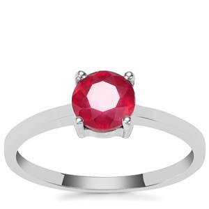 'Zahamena Ruby' Ring in Sterling Silver 1.28ct (F)