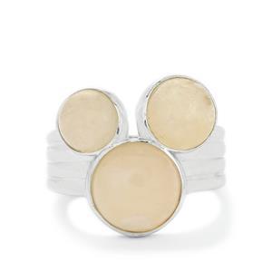 7.84ct Zambezia Morganite Sterling Silver Ring