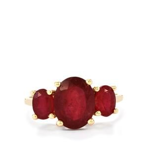 Malagasy Ruby Ring in 9K Gold 5.44cts (F)