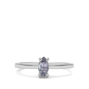 0.36ct Bi Colour Tanzanite Sterling Silver Ring