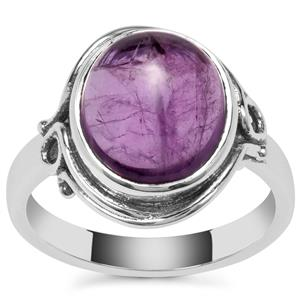 Kenyan Amethyst Ring in Sterling Silver 4.18cts