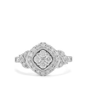 3/4ct Canadian Diamond 9K White Gold Tomas Rae Ring