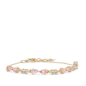 Cherry Blossom™ Morganite Bracelet with Diamond in 9K Gold 1.50cts