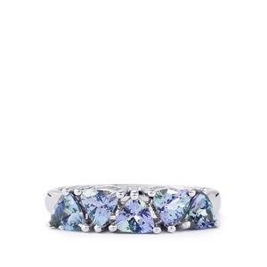Bi Color Tanzanite Ring in Sterling Silver 1.57cts