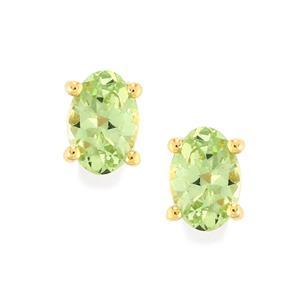 Merelani Mint Garnet Earrings in 9K Gold 0.94cts