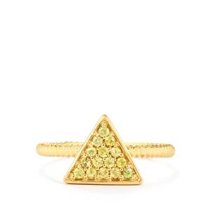 Ambilobe Sphene Ring  in 9K Gold 0.25ct