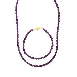 55ct Bahia Amethyst Midas Set of Necklace & Bracelet (Convertible)