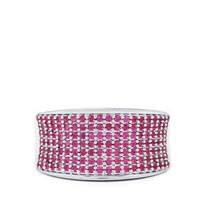 0.83ct Burmese Ruby Sterling Silver Ring