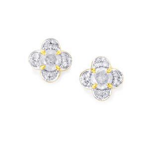 Diamond Earrings in 10K Gold 0.52ct