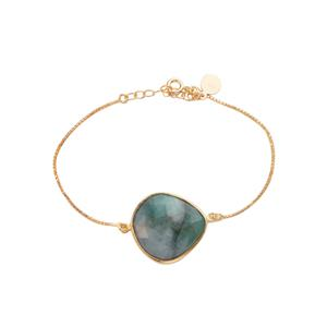 Emerald Sarah Bennett Bracelet in 14K Gold Tone Sterling Silver 12.10cts
