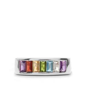 1.57ct Kaleidoscope Gemstones Sterling Silver Ring