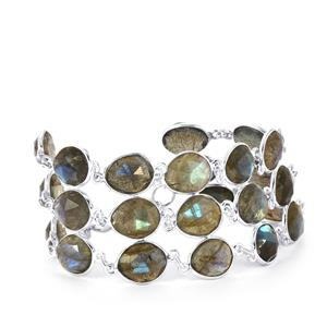 Labradorite Bracelet in Sterling Silver 68.49cts
