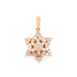 Pink Diamond Pendant in 9K Rose Gold 0.58ct