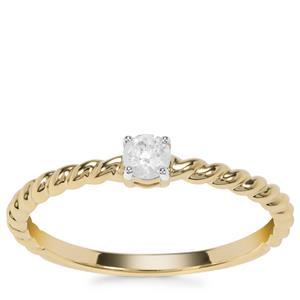 Diamond Ring in 9K Gold 0.16ct