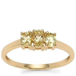 Brazilian Chrysoberyl Ring in 9K Gold 0.68cts