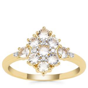 Ceylon White Sapphire Ring in 9K Gold 0.95ct