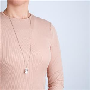 Elegance Sterling Silver Flip Flop Necklace