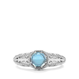 1.23ct Swiss Blue Topaz Sterling Silver Ring